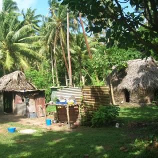Bebyggelse på Vanua Balavu Island.